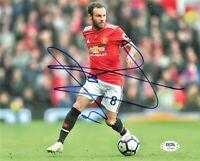 Juan Mata signed 8x10 photo PSA/DNA Manchester United Soccer