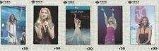 Celine Dion 5 telefoonkaarten/télécartes  (CD61-5c)