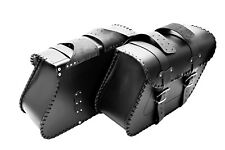 MOTORCYCLE LEATHER SADDLEBAGS PANNIERS BRAIDED EDGES HARLEY DAVIDSON SPORTSTER