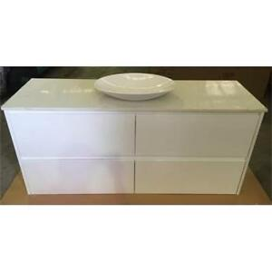 1200mm Wall Hung Vanity With Stone top & Above Counter Basin
