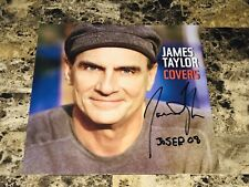 James Taylor Rare Authentic Hand Signed Covers Promo Poster Flat Free Shipping