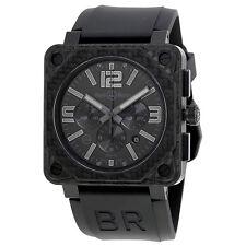 Bell and Ross Aviation Black Phantom Dial Mens Watch BR0194-CA-FIBER-PH