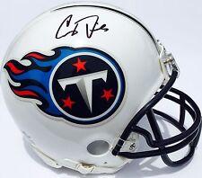 COREY DAVIS #84 SIGNED TENNESSEE TITANS FOOTBALL MINI HELMET w/COA PROOF
