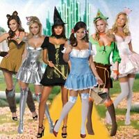 Adult Movie The Wizard of OZ Dorothy Witch Cowardly Lion Tin Scarecrow Costume