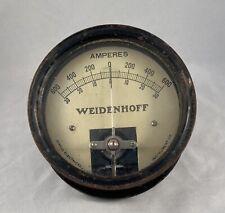 Vintage Antique Weidenhoff Jewell Electrical Instrument 600 Amperes Test Gauge