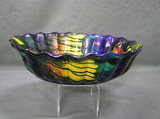 Antique Yelloware Stoneware Pottery Slip Glaze Multi Colored Handmade bowl