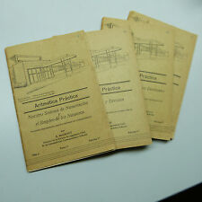 $5 Blow Out Sale: Set of 4 Vintage Aritmetica Practica Books (B3)
