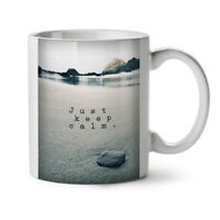 Keep Calm Ocean Nature NEW White Tea Coffee Mug 11 oz   Wellcoda