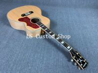 Handmade 43'' Jumbo Top Quality ZW-J200D Solid Top Electric Acoustic Guitar