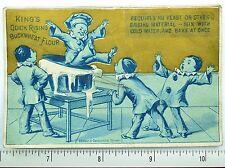 1880 King's Quick Rising Buckwheat Flour, Clowns Giant Dough Rising Card F59