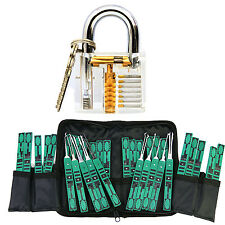 32pcs Locksmith Kit Practice Padlock Pick Tool Lockout Train Set Lock Training