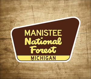 "Manistee National Forest Decal Sticker 3.75"" x 2.5"" Michigan Vinyl"