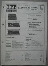 ITT/Schaub Lorenz Stereo 5200, 7400 HiFi Cassette Compact Service Manual, R028