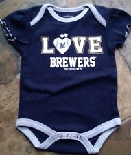NWOT MILWAUKEE LOVE BREWERS INFANT BABY GIRLS ONEISE  0-3 Months