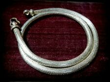 Vintage Mid century High Silver Snake chain necklace from Rajasthan India