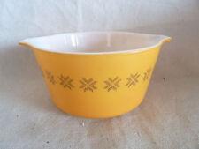 "Vtg Pyrex Cinderella Nesting Mixing Bowl Brn Stars on Orange 1 Qt 7 1/2"""