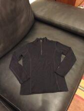 Smartwool Kid's Long Sleeve Zip nts medium black - has a repair msrp $65