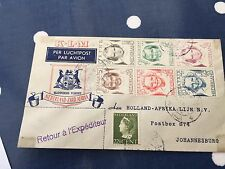 Netherlands special flight to Johannesburg with complete set princesses 1940's