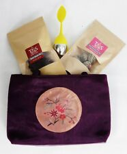 Perfect Gift-Handcrafted Oriental Bag w/ Floral Tea Set by Tsimsy Suzy