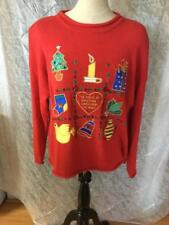 Really Ugly Vintage Christmas Sweater Womens Size Small S