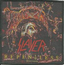 SLAYER repentless 2015 square   - WOVEN SEW ON PATCH - free shipping