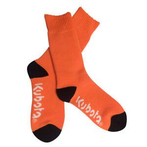Kubota Branded Hi-vis Orange Work Socks