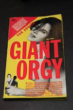 GIANT ORGY -Alex Lord, Novel Books 5064, (1961) Vintage Erotica Sleaze Paperback