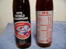 Pepsi--1975 -16 oz Cincinnati Reds commerative coke bottle