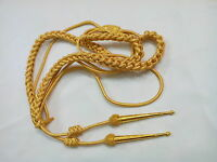 Army Aiguillette Gold Wire Cord/Officer US Military/British Navy Aiguillett/WWII