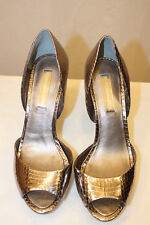 BCBG MAX AZRIA STORE TRY ON DARK SILVER MA-OSARIO HIGH FOIL SNAKE SIZE 7.5B