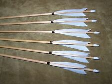 6 New  CEDAR  Wood Traditional long bow archery  Arrows 35/40  5/16