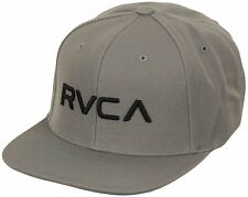 RVCA Twill Snapback Hat (Pavement Gray/Black)