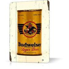 METAL TIN SIGN BUDWEISER CAN retro vintage rare poster Decor Home Bar Pub Garage