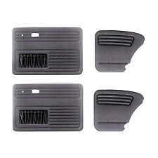 VW BUG DOOR PANEL SET (4)  EMPI 4854 - Fits VW Beetle from 1965 - 1979 Black
