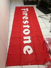 FIRESTONE Fahne  3x1m Meter Flagge / Spannband Werkstatt Garage Deko