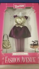 Barbie Fashion Avenue Party dress purple and gold 1997 New