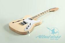 DIY Semi-Hollow Body Mahogany Bolt On Electric Guitar Kit Albatross G007.1