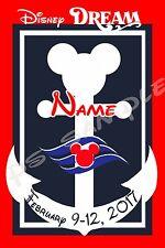 4x6 Disney Cruise Door Magnet - NAUTICAL MICKEY - OR - MINNIE