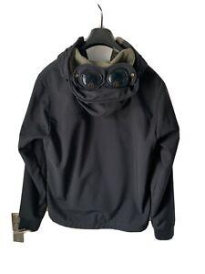Mens CP Company Black Softshell Winter Goggles Jacket. Size XL