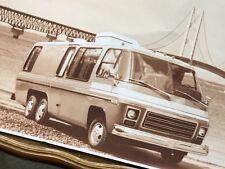1960s Chevy Camper van Photo Photograph Chevrolet G20 Custom RV Sepia Vintage