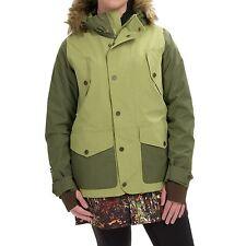 Women's Burton Prestige Thermolite Snow Ski Snowboard Jacket Keef Green Size M