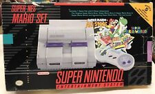 Original Super Nintendo Entertainment System Mario Set. Complete set with box.