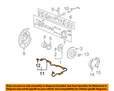 HONDA OEM ABS Anti-lock Brakes-Rear Speed Sensor 57475S3VA52