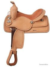 14 Inch Western Competition Trail Saddle - Roughout Leather - Suede Seat
