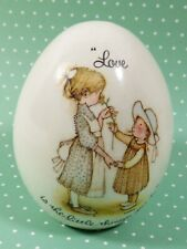 """Holly Hobbie Egg Figurine """"Love is the little things you do"""" girls 1973 Japan"""