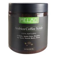 MELAO Coffee Body Scrub Aceite de coco natural Exfoliante blanqueador hidra S4Z2