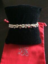 Uno De 50 Skull Beads and Leather Bracelet - NWT - Living la vida loca!