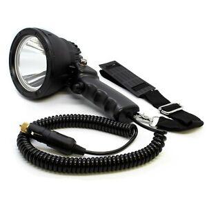 LED Spotlight Handheld 12V Searchlight Floodlight Portable Marine Hunting ATV