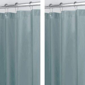 mDesign Plastic, Mold/Mildew Resistant, PEVA Shower Curtain Liner for Bathroom S