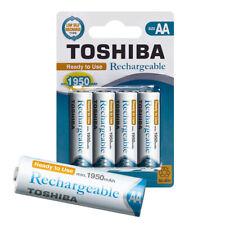 TOSHIBA AA Akku Batterien min. 1950 mAh, Ready-to-Use Ni-MH, 1.2V 4er Pack